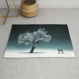 Baby Roe and Tree Conversation Rug