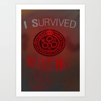 silent hill Art Prints featuring I Survived Silent Hill by thegamingmuse