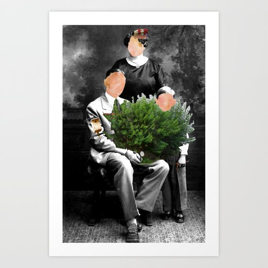 Family Portrait - Valentines day Art Print