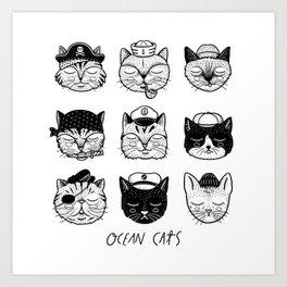 Ocean Cats Art Print