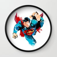 hero Wall Clocks featuring HERO by ALmighty1080