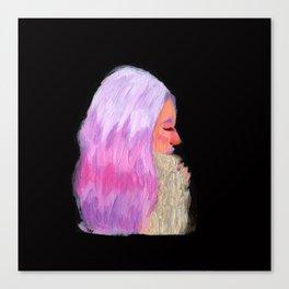 Pink Hair! Canvas Print
