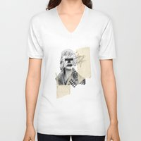 moss V-neck T-shirts featuring Kate Moss by FAMOUS WHEN DEAD