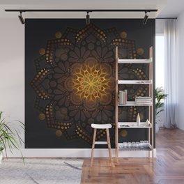 """Warm light Moroccan lantern Mandala"" Wall Mural"