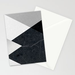 Geometrics - marble & silver Stationery Cards