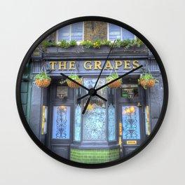 The Grapes Pub London Wall Clock