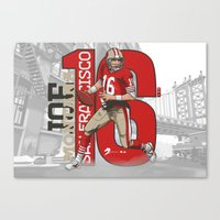 49ers Canvas Prints featuring NFL Legends: Joe montana 49ers by Akyanyme