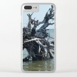 Left Over Tree Clear iPhone Case