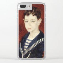 Renoir - Fernand Halphen as a Boy Clear iPhone Case