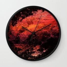 abstract water art Wall Clock
