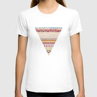 gray pattern T-shirts featuring Pattern by Sandra Dieckmann