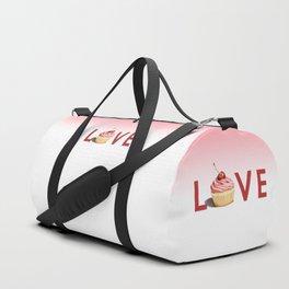 Pink Cupcake LOVE Duffle Bag