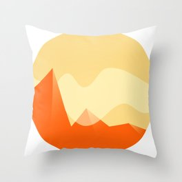 Simple Valley Throw Pillow