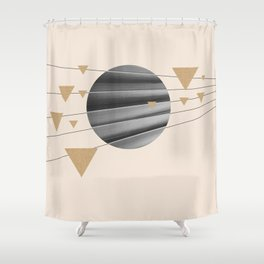 Abstract Composition 04 Shower Curtain