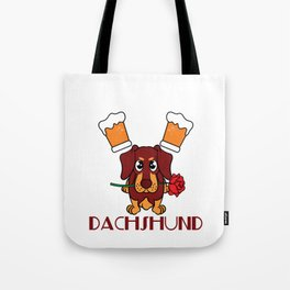 """Drink Beer and Hang with Dachshund"" dog and drink lover inspired tee made specially for you! Tote Bag"