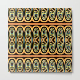 Ethnic geometric pattern Metal Print