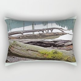 FALLEN TREES ALONG MOUNTAIN LAKE TRAIL Rectangular Pillow