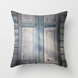 Mysterious Window Throw Pillow