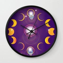 Shadows Across the Firmament Wall Clock
