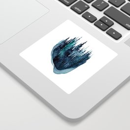 Turquoise Glow - Pine Forest Sticker