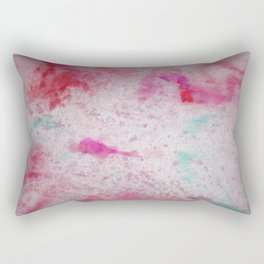 Canvas Chaos Pastel Explosion Abstract #Decorative #Home Rectangular Pillow