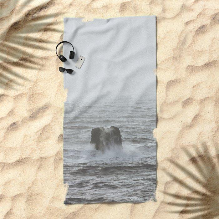 Vík, Iceland III Beach Towel