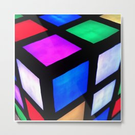 Rubiks View Metal Print