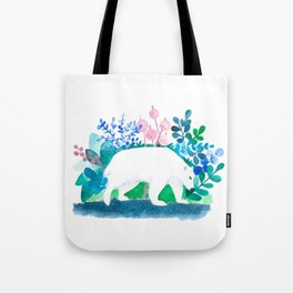 white bear watercolour Tote Bag