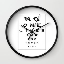 Clearer and clearer Wall Clock