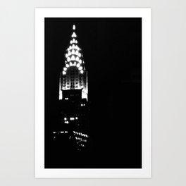Chrysler Building In New York City Art Print