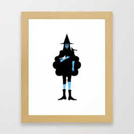 Witch and Crow Framed Art Print