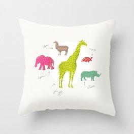 Animal Time Throw Pillow