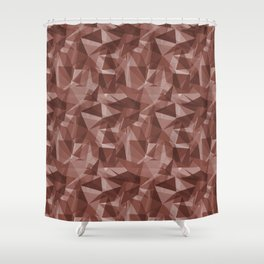Abstract Geometrical Triangle Patterns 3 Dunn Edwards Spice of Life DET439 Shower Curtain