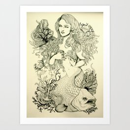 Inverted Mermaid Art Print