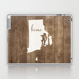 Rhode Island is Home - White on Wood Laptop & iPad Skin