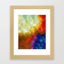 Angels Among Us - Emotive Spiritual Healing Art Framed Art Print
