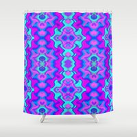 wallpaper Shower Curtains featuring Psychedelic Wallpaper by Kirsten Star