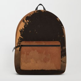 Warm Silhouette Tree Backpack