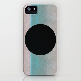 Big black hole in the wall on pastel background iPhone Case