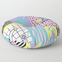 Memphis Pattern 27 - 80s - 90s Retro / 1st year anniversary design Floor Pillow