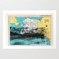 alaska Art Prints featuring Alaska by Ursula Rodgers