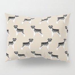 Schnauzer minimal basic dog art pattern design perfect gifts for schnauzers dog breed Pillow Sham