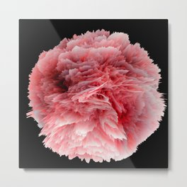 Fantasy Sea Anemone in Red Coral Metal Print