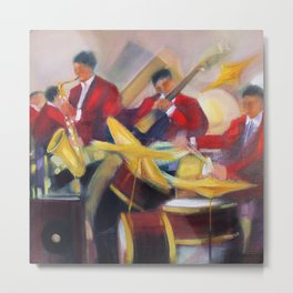 Harlem Renaissance Savoy Ballroom Jazz Age African American Musical portrait painting M. Fillonneau Metal Print