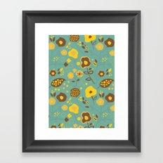 Fall Floral Framed Art Print