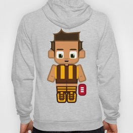 Super cute sports stars - Brown and Gold Aussie Footy Hoody
