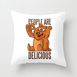 will bear the Menschae Appetizing Throw Pillow