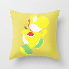 Yoshi(Smash)Yellow Throw Pillow