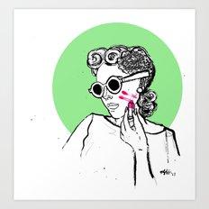 Step 2. Apply lipstick Art Print
