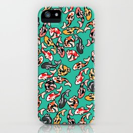 Aqua Koi iPhone Case